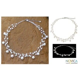 Stainless Steel Moonlight Glow Pearl Choker (Thailand)