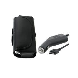 Eforciy Car Charger/ Leaher Case for Samsung SGH D820 / SGH 809