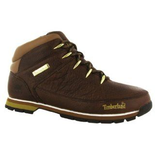 Timberland Euro Sprint Brown Leather Mens Boots Size 7.5 US Shoes