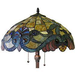 Dragonfly 2 light Antique Bronze Floor Lamp