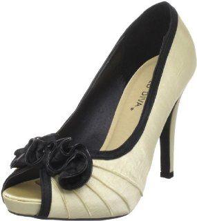 : Wild Diva Womens Erin 159 Open Toe Pump,Champagne,7.5 M US: Shoes
