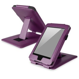 BasAcc Purple Leather Case with Stand for  Kindle Paperwhite