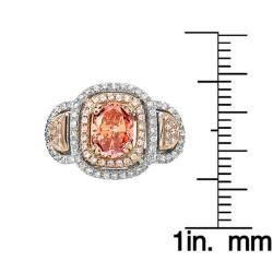 14k Two tone Gold 2ct TDW Pink and White Diamond Ring (G H, SI2