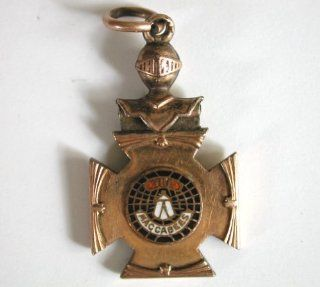 155 KOTM Knights of the Maccabees Gold Filled Watch Fob Watches