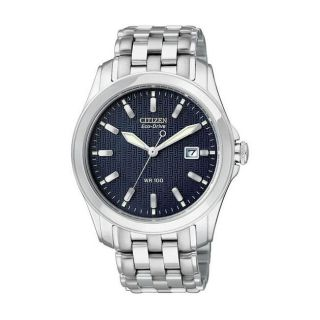 Citizen Eco Drive Mens WR100 Navy Dial Watch