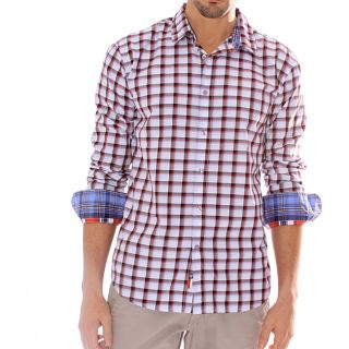 191 Unlimited Mens Red Plaid Shirt