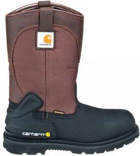 .Waterproof Insulated Steel Toe Pull On Boots Brown Size 8 Med Shoes