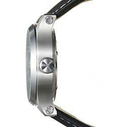 Golana Swiss Mens Aqua Pro 100 Black Leather Strap Watch