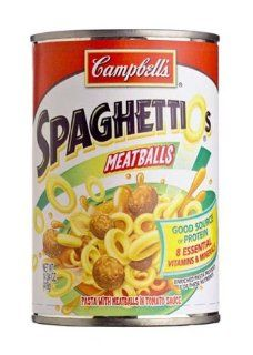 Campbells Spaghettios Meatballs   12 Pack Grocery