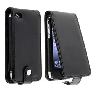 Black Leather Case with Card Holder for Apple iPhone 4/ 4S