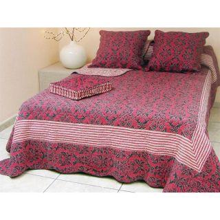 magnifique couvre lit shabby boutis 2 taies 230x250. Black Bedroom Furniture Sets. Home Design Ideas