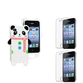 Panda TPU Case/ Screen Protectors for Apple iPhone 4/ 4S