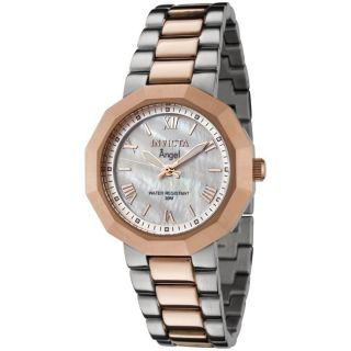 Invicta Womens Angel White Mother of Pearl Dial Two tone Watch