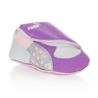 Modèle FAAS 300. Coloris  violet, gris et rose. Baskets PUMA Bébé