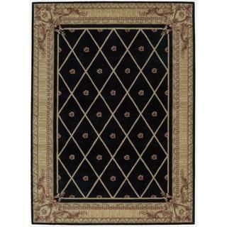 Ashton House Diamond Black Wool Rug