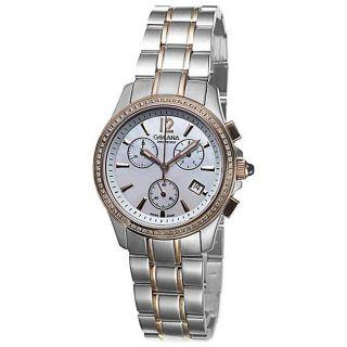 Golana Swiss Womens Aura Pro 100 Two tone Steel Watch