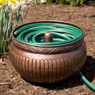 Floral Copper Hose Pot   Without Lid   Antique Copper   19