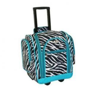 American Flyer Animal Print Carry On Organizer (Zebra Teal