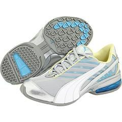 Puma Womens Cell Amar Puma Silver/ White/ Blue Mist Athletic Shoes