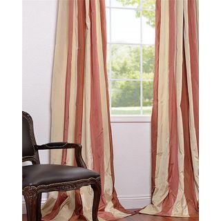 Kiss Faux Silk Taffeta Striped 108 inch Curtain Panel