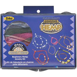 Toner Plastics Beginners Colored Hemp Jewelry Kit with Beads Today $9
