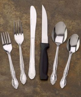 Cheshire Sirena 102 piece Flatware Set with Steak Knives