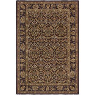 Hand tufted Brown Wool Terra Rug (79 x 106)