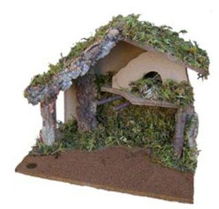 Wood and Moss Musical Christmas Nativity Scene Creche