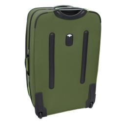 Kemyer Olive Green 4 piece Expandable Upright Luggage Set