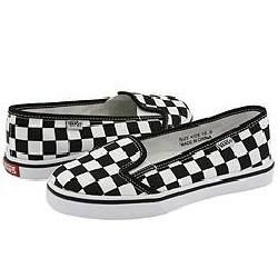 Vans Kids KVD (Toddler/Youth) True White/Black Checkerboard Athletic