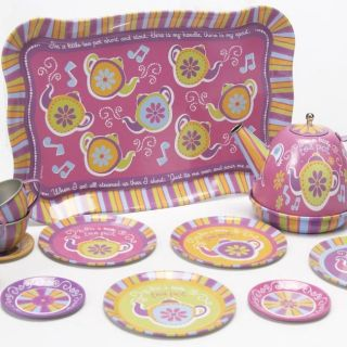 Schylling Musical 15 piece Singing Toy Tea Set