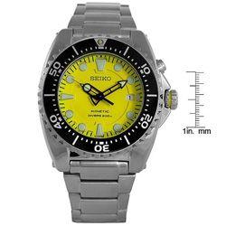 Seiko Mens Yellow Dial Kinetic Movement Watch