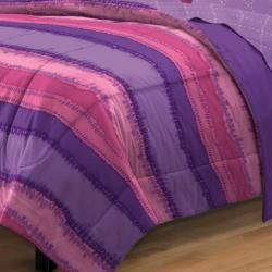 Tie Dye Purple/Pink 7 piece Bed in a Bag with Sheet Set