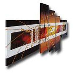 Hand painted Abstract 104 Gallery wrapped Canvas Art Set