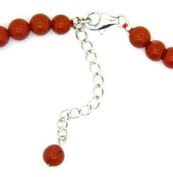 Pearlz Ocean Sterling Silver Red Jasper Journey Necklace