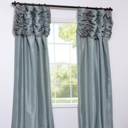 Sea Green Faux Silk Taffeta 108 inch Curtain Panel