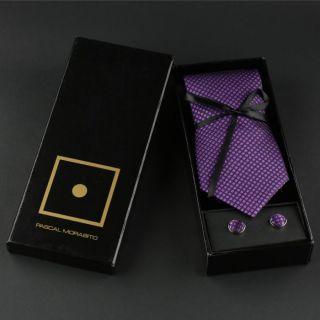 PASCAL MORABITO Coffret Homme Violet et noir   Achat / Vente CRAVATE