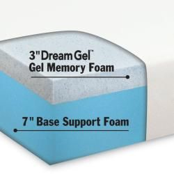 Dream Form Gel 10 inch Queen size Gel Memory Foam Mattress