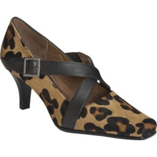 Womens Aerosoles Heavy Metal Leopard Combo