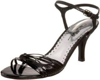 Wild Rose Womens Enzo173 Ankle Strap Sandal,Black,6.5 M US Shoes