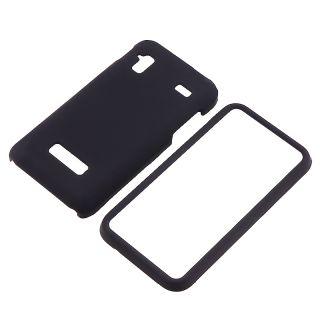 Black Snap on Rubber Coated Case for Samsung Captivate Glide i927