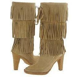 Michael Kors Cowgirl Fringe Boot Sand Suede 210