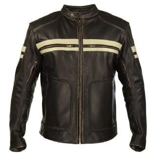 Xelement BXU165250 Mens Brown Leather Cruiser Motorcycle