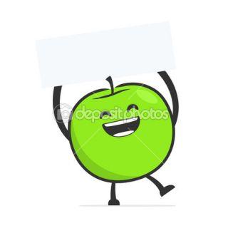 Funny cartoon apple  Stock Vector © Sergey Konyakin #12058619