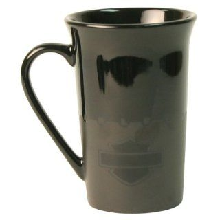 Harley Davidson Black Tonal Logo 11 Ounce Ceramic Coffee
