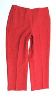 NEW ALFRED DUNNER WOMENS PROPORTIONED SHORT RED PANTS 16