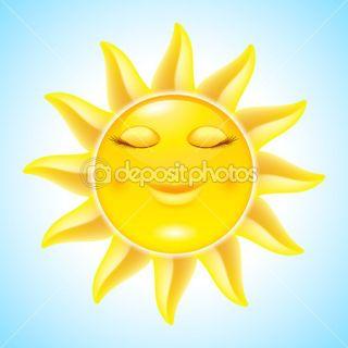 Cartoon Sun  Stock Vector © dvargg #11016372