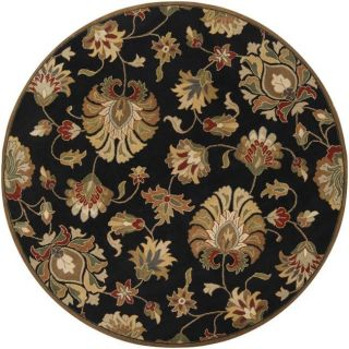 Hand tufted Caper Black Wool Rug (99 Round)