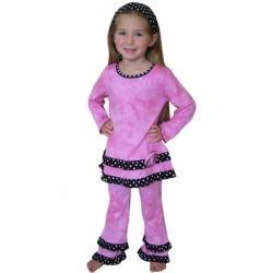 Ann Loren Girls 2 piece Tie dye Outfit