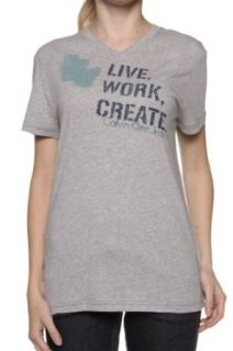 Calvin Klein T Shirt LIVE WORK CREATE, Color Grey, Size